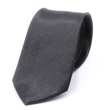 Corbata de hombre estrecha, azul y negro, brillante, corbata fina ...