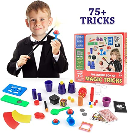 Magic Kit Set Ultimate Kids Beginner 75 Magician Tricks with Instructions