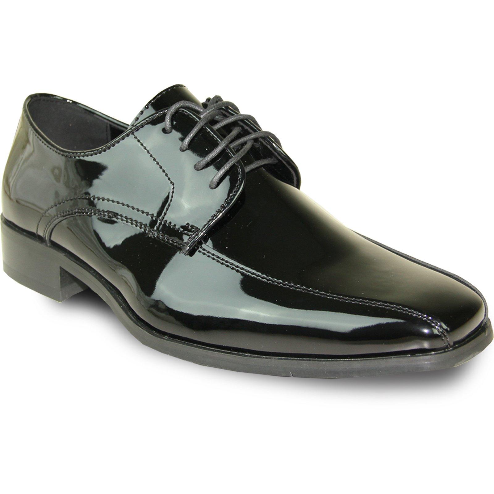 VANGELO Men Tuxedo Shoe TUX-5 Fashion Square Toe for Wedding & Formal Event