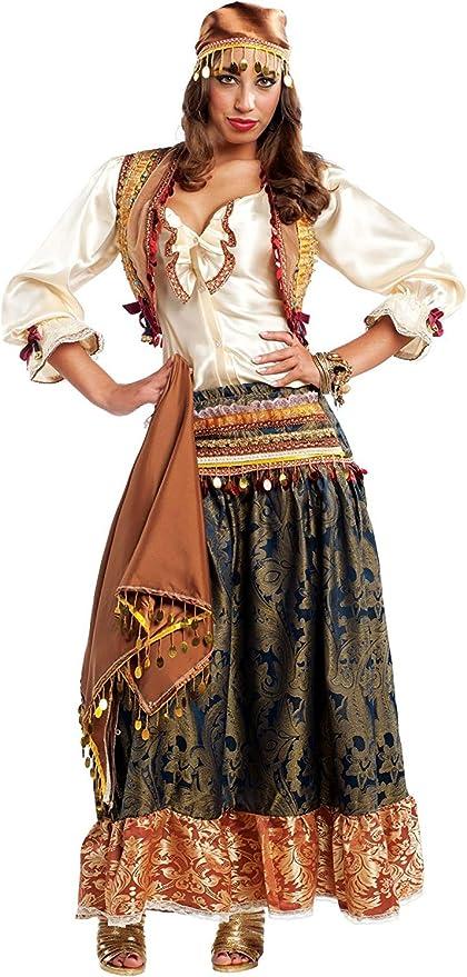 chiber Disfraces Disfraz de Zíngara Pícara para Mujer Adulta (M ...