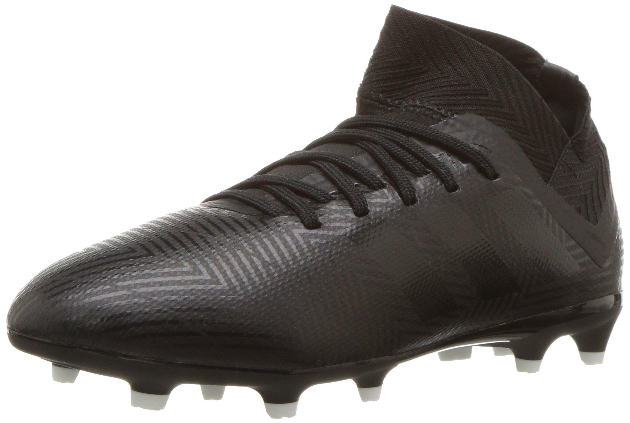 adidas Unisex Nemeziz 18.3 Firm Ground Soccer Shoe, Black/White, 1 M US Little Kid
