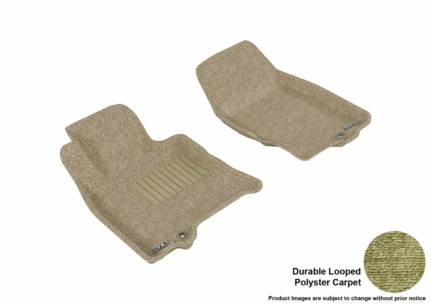 Black 3D MAXpider Front Row Custom Fit Floor Mat for Select Infiniti Models Classic Carpet L1IN00312209