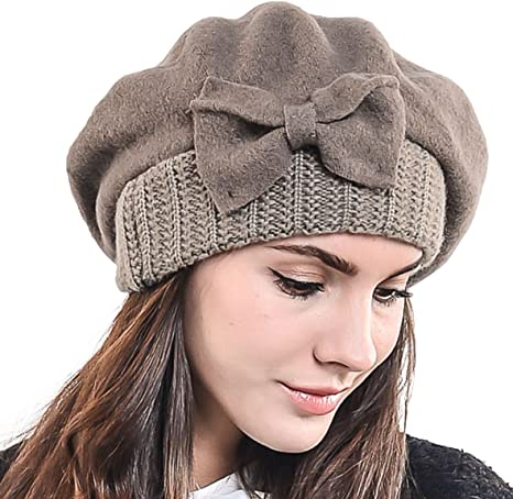 Embroidered Beret Hand Embroidered Hat Wool Beret Winter Beret Sunflower Hat Light Grey Winter Hat Beret Hat