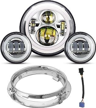 custom road king wiring harness amazon com 7  led headlight 4 5 passing lights for road king road  led headlight 4 5 passing lights