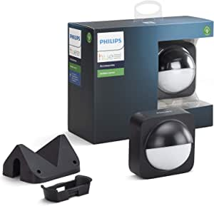Philips Hue Dusk-to-Dawn Outdoor Motion Sensor for Smart Home, Wireless and Easy to Install (Hue Hub Required, for Use with Philips Hue Smart Lights), Multicolour