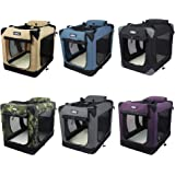 """EliteField 3-Door Folding Soft Dog Crate, Indoor & Outdoor Pet Home, Multiple Sizes and Colors Available (36"""" L x 24"""" W…"""