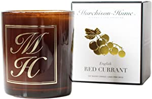 Murchison-Hume Scented Candle Soy-Blend Aromatherapy Natural Candles in Glass Jar — English Red Currant Fragrance with 60 Hours Burn Time and Cotton Wick (8.5oz)