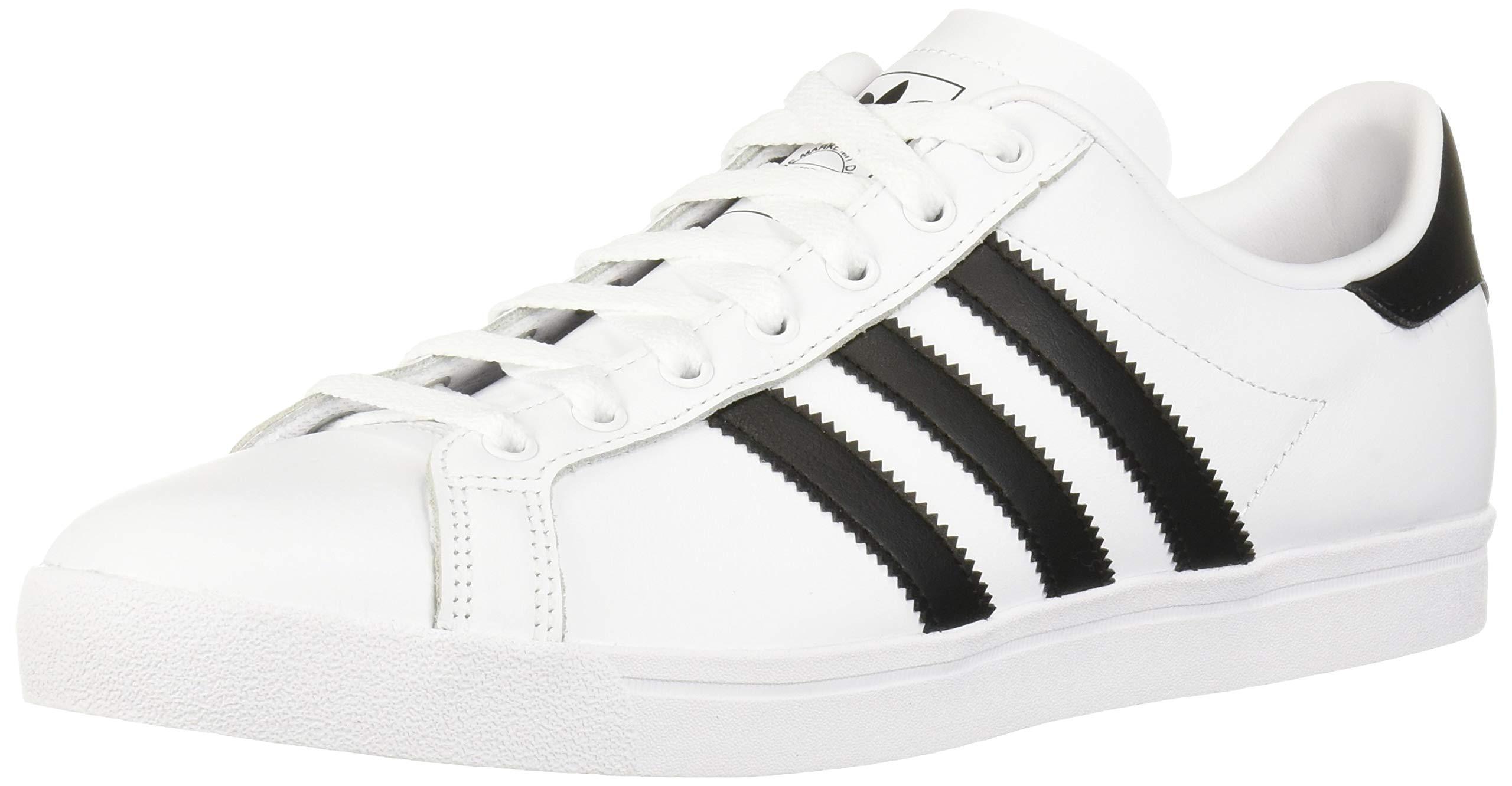 adidas Originals Men's Coast Star Sneaker, Black, White, 12 Medium US
