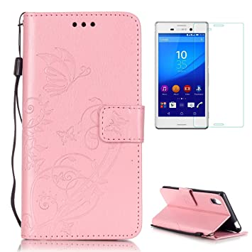 CaseHome Compatible For Sony Xperia M4 Aqua Funda Piel PU Cuero ...