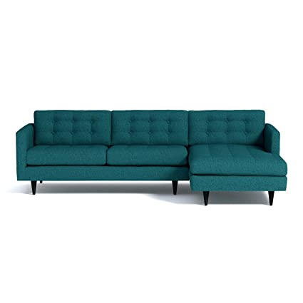 Stupendous Amazon Com Beverly 2 Piece Sectional Sofa Chicago Blue Unemploymentrelief Wooden Chair Designs For Living Room Unemploymentrelieforg