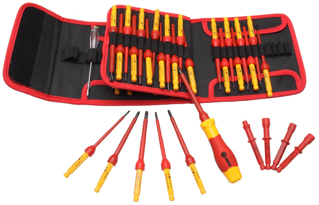 RUWOO Z02050 1000V VDE 50-Piece Insulated Changeable Screwdriver Set by RUWOO
