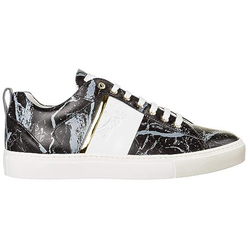Versus Versace Sneakers Medusa Uomo Nero - Grigio - Oro - Bianco 42 EU   Amazon.it  Scarpe e borse 2f858c26632
