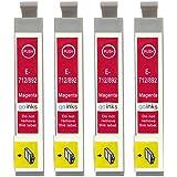 Go Inks E-713 Lot de 4 Cartouches d'encre pour Imprimante Magenta