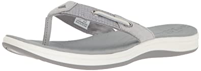 55440ad2528856 SPERRY Women s Seabrook Surf Two-Tone Flat Sandal Grey 5 Medium US