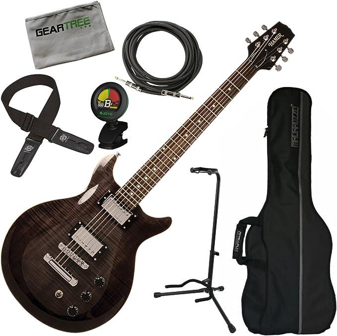 Hamer SATF-TBK Trans - Guitarra eléctrica de doble corte, color ...
