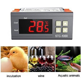 MS Todos los fines de Controlador de temperatura digital termostato acuario incubadora Cadena de Frío Temperatura