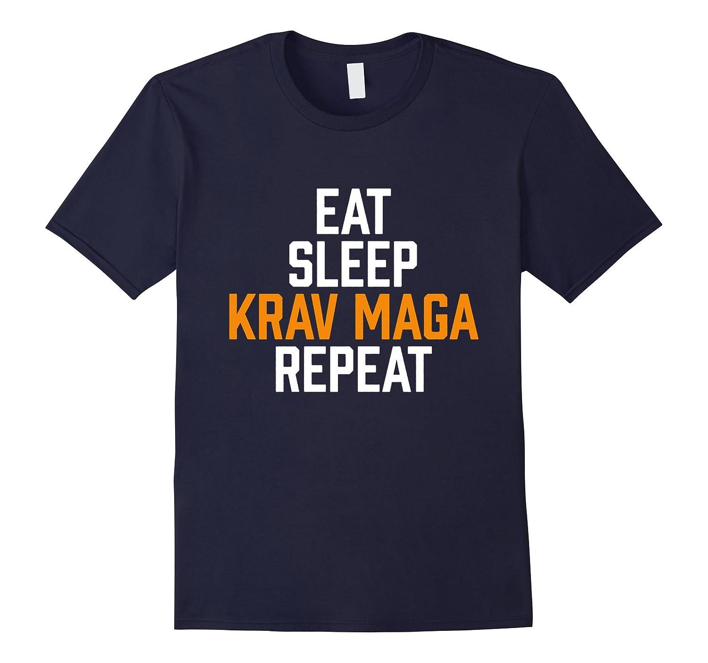 Funny Israeli Martial Arts Eat Sleep Krav Maga Repeat T-Shir-CD