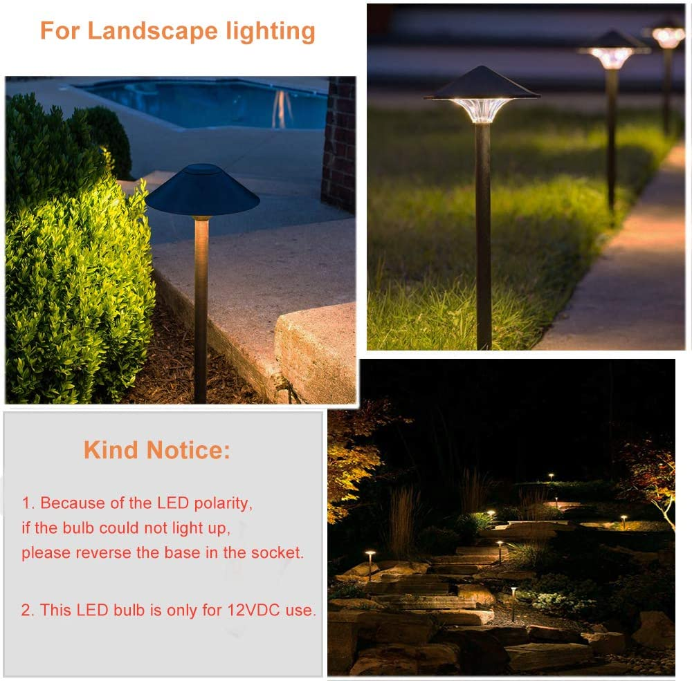 Dengta T10 Wedge Base Led Light Bulbs For Outdoor Landscape Path Step Deck Lights And Car Interior Dome Map Door Courtesy License Plate Lights Warm White 12vdc 6 Pack Automotive Rv Parts