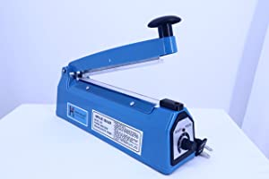 Henky Vacuum 8'' 200mm Impulse Manual Bag Sealer Heat Sealing Machine Poly Tubing Plastic Bag (8.0)
