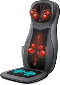 Naipo Back Massager Shiatsu Massage Seat Cushion for Full Back and Neck with Heat Function