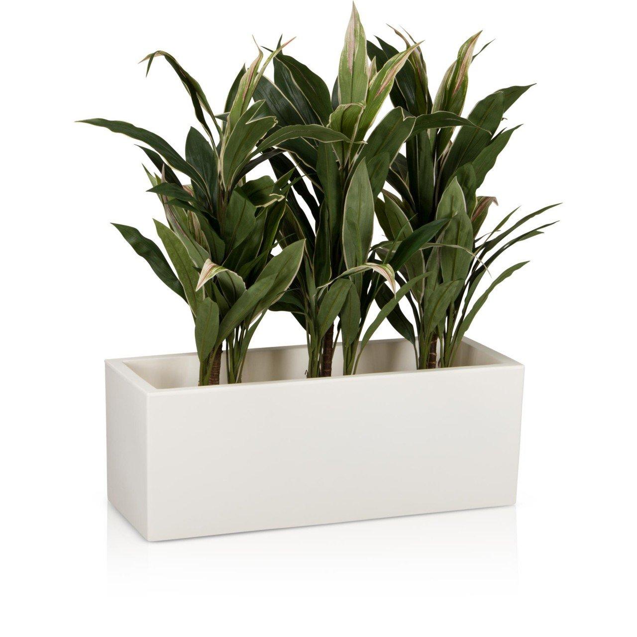 Pflanztrog Blumentrog MURO 40 Kunststoff, 100x40x40 cm, weiß matt