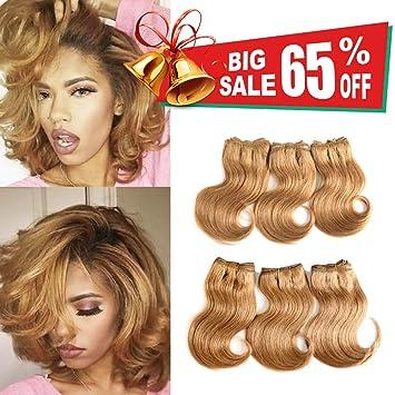 Amazon Com Brazilian Virgin Hair With Closure Cheap Short Hair