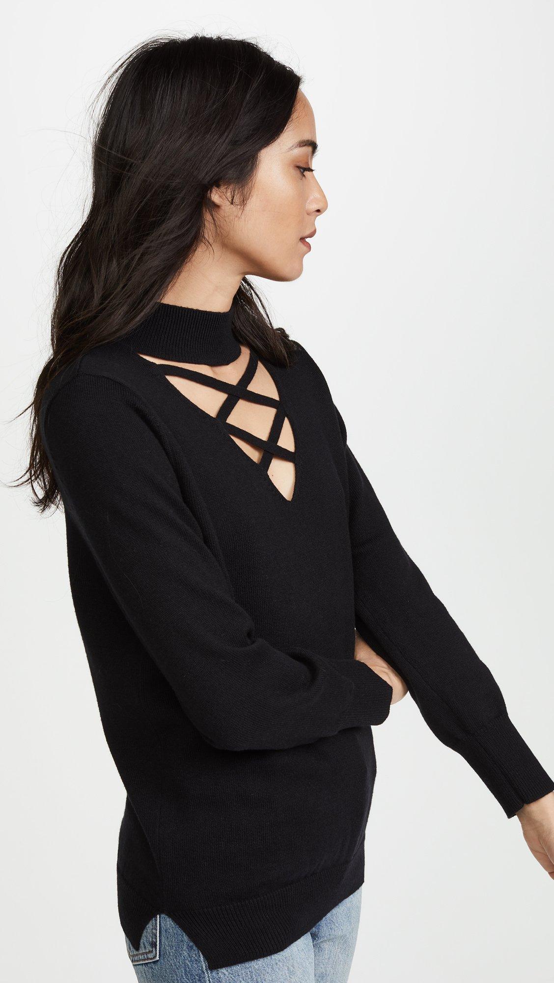 LNA Women's Joey Detached Sweater, Black, Small by LNA (Image #4)