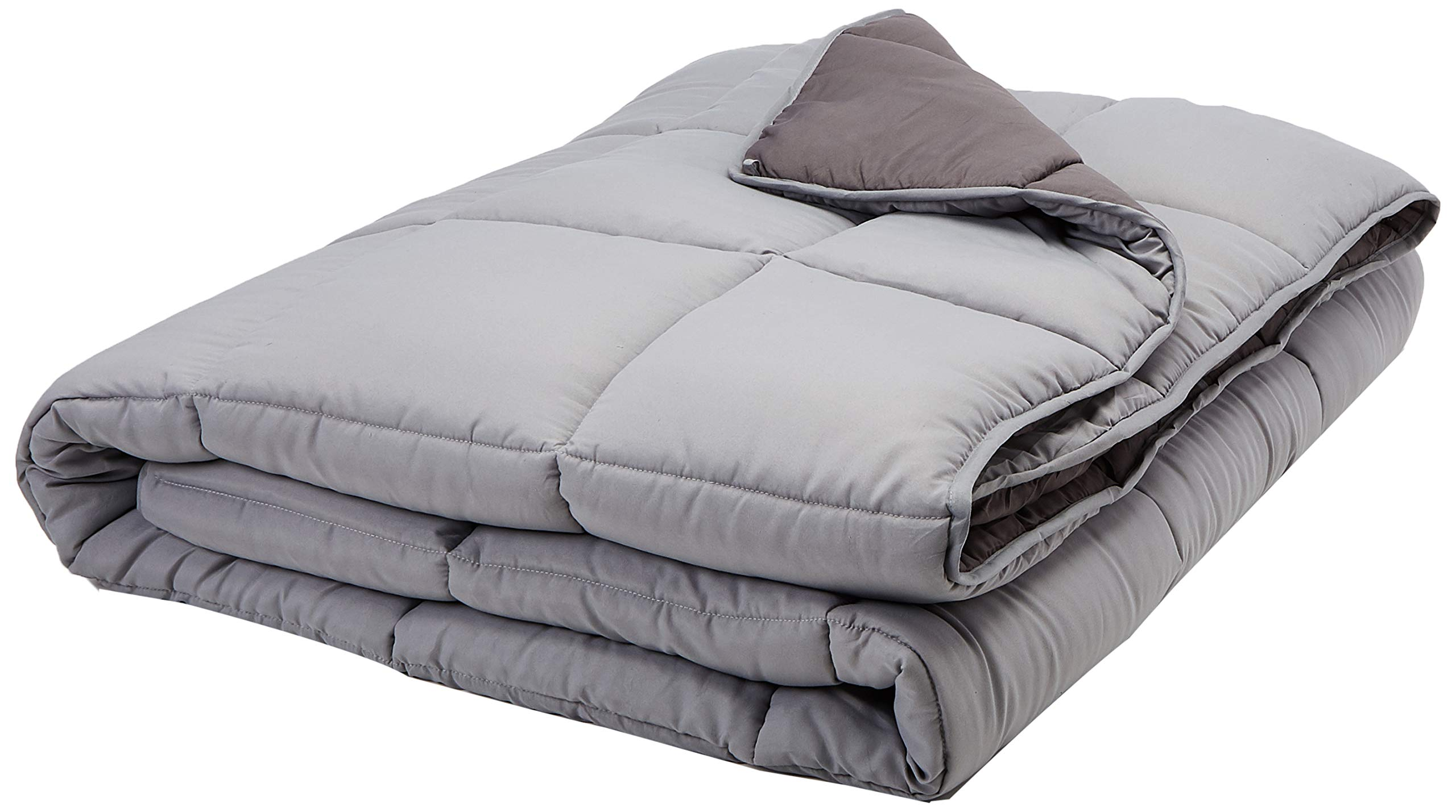 Linenspa All-Season Reversible Down Alternative Quilted Comforter - Hypoallergenic - Plush Microfiber Fill - Machine Washable - Duvet Insert or Stand-Alone Comforter - Stone/Charcoal - Oversized King by Linenspa