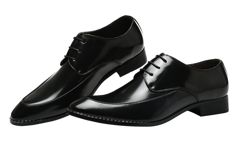Herren Derby-Schuhe Schnürhalbschuhe Retro Klassiker Oxfords Schnürer Modische Anzug Schuhe Schwarz 39 EU vxH5JFH7f2