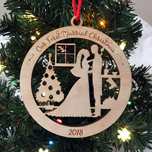 Our First Married Christmas 2018 Newlywed Christmas Ornament - Amazon.com: Our First Married Christmas 2018 Newlywed Christmas