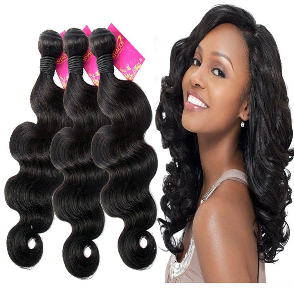 Amazon Shacos 7a Hair Weave 12 14 16 Inch Brazilian Virgin