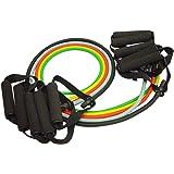 KAZE SPORTS Premium Latex Resistance Exercise Bands (Set of 5)