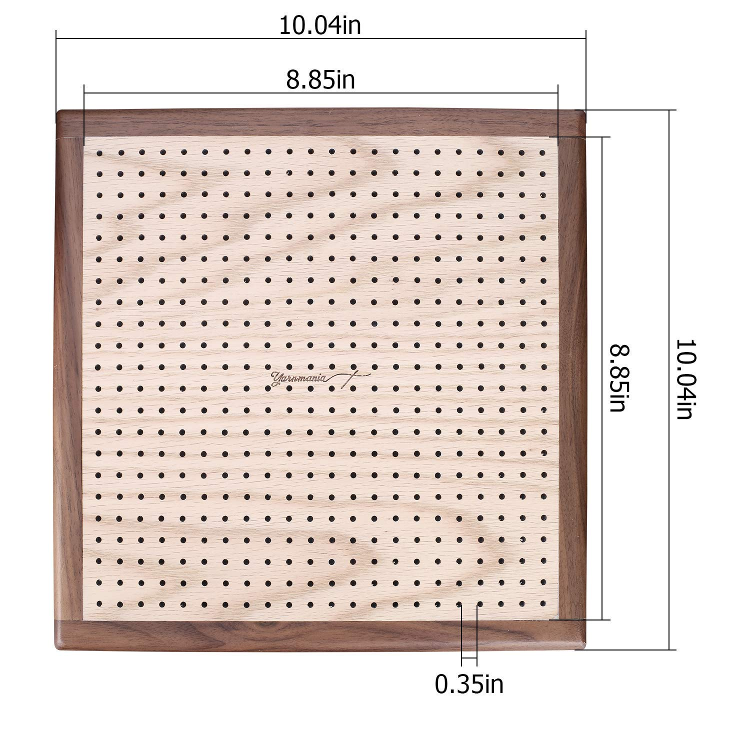 Yarn Mania - Premium Blocking Boards for Knitting with Grids - Handcrafted Wood Crochet Blocking Board with 20 Stainless Steel Pins (9 inches) by Yarn Mania (Image #3)