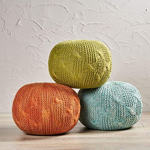 Christopher Knight Home Deon Indoor / Outdoor Fabric Weave Pouf