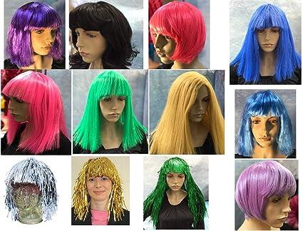 Pelucas de moda para cabello recto ondulado Bob Estilos rubio ...
