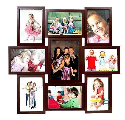 Buy Deep Large 9 Photos Collage Photo Frame Brown (56 cm x 52 cm ...
