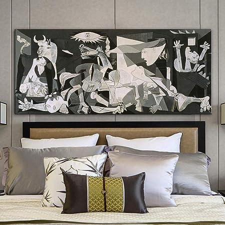 NO BRAND Famosa España Francia Picasso Clásico Guernica 1937 Alemania Figura Lienzo Impresión del Arte Pintura-Sin Marco 60x120cm: Amazon.es: Hogar