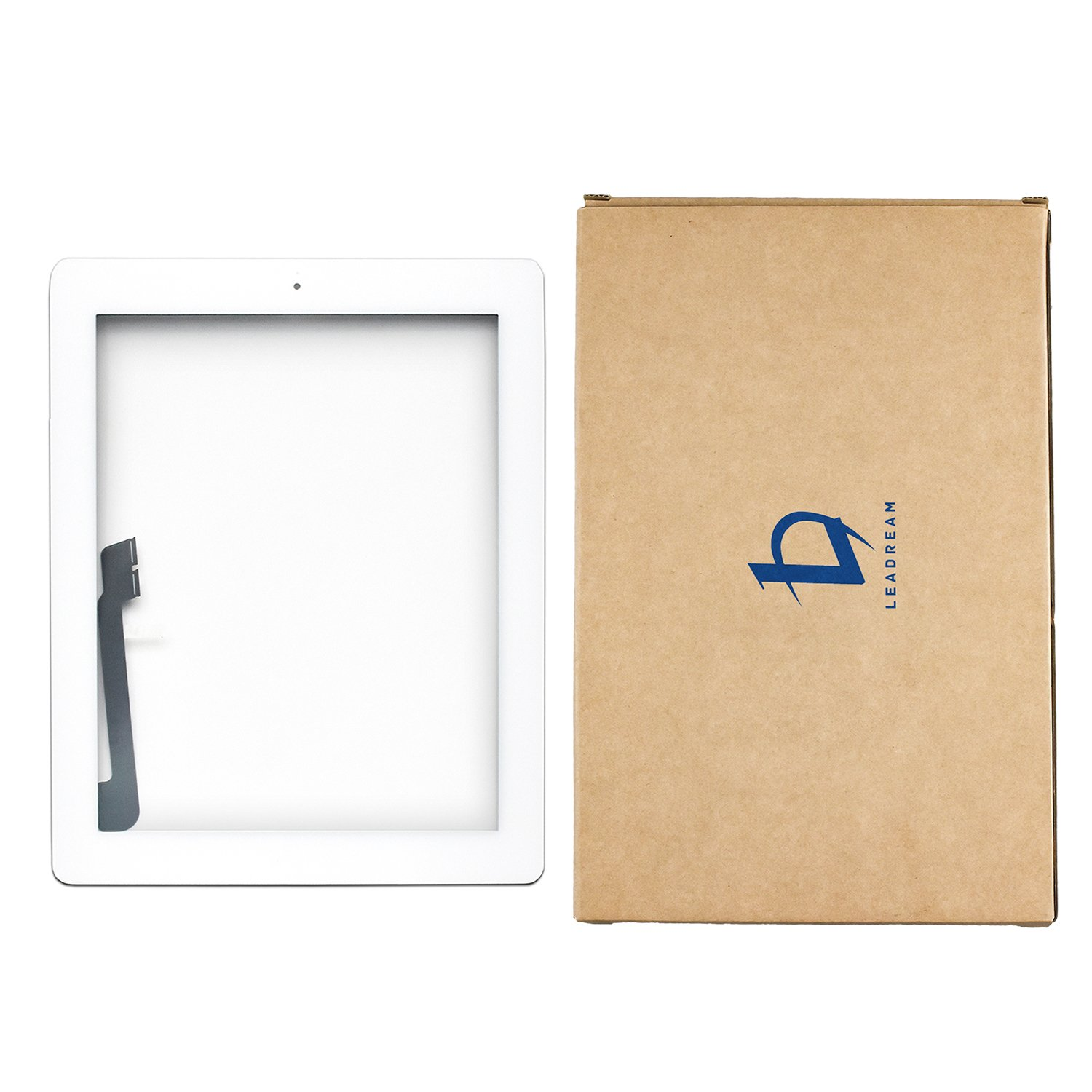 White Touch Screen Digitizer Assembled with Home Button Strong Adhesive for iPad 3 3rd Generation A1416 A1403 A1430 by Leadream (Image #5)
