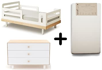 reputable site d7c21 16098 Amazon.com : Oeuf Classic Toddler Bed, Birch + Oeuf Merlin 3 ...