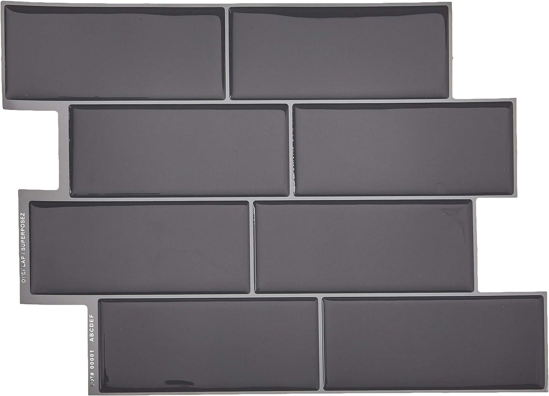 - Smart Tiles SM1064-6 Original Peel & Stick Wall Tile, 8.38 In. X