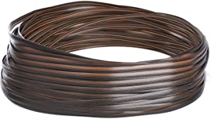 Andals 220 ft Patio Furniture Wicker Repair Kit Synthetic Rattan Material for Patio Chair Sets Replacement DIY Garden Patio Furniture Sofa Table (Brown)