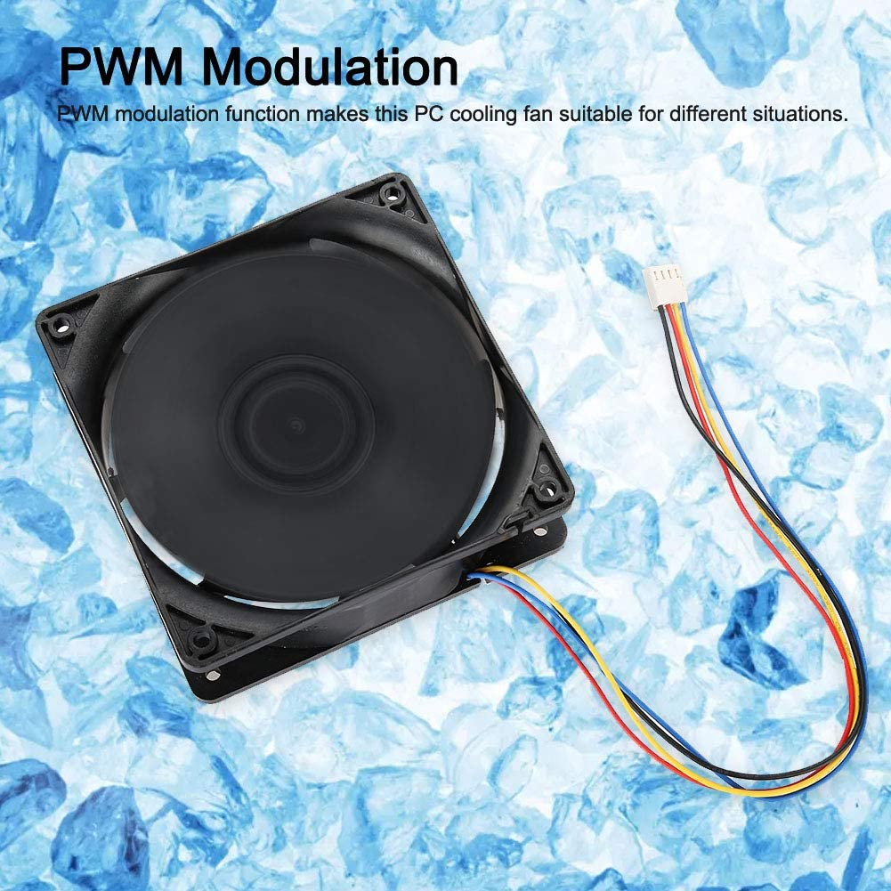 Acogedor 7000RPM Cooling Fan for Antminer S7 S9 Mining High Precision Dual Ball Bearing 4 PIN Cooling Fan for Antminer,Wind-Force up to 250.3CFM-Support PWM Speed Control Function