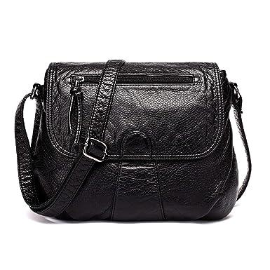 Amazon.com: Bolsas de mensajero para mujer, muy suaves, de ...
