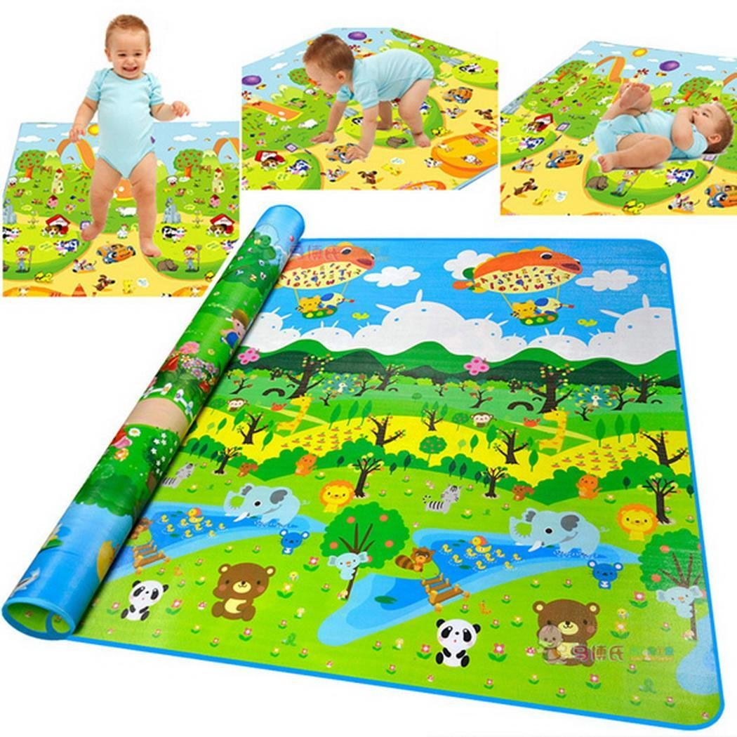 Baby Playing Mat Ocean Animal Crawling Floor Pad with Carring Bag [US Stock] (2) by Rateim (Image #1)