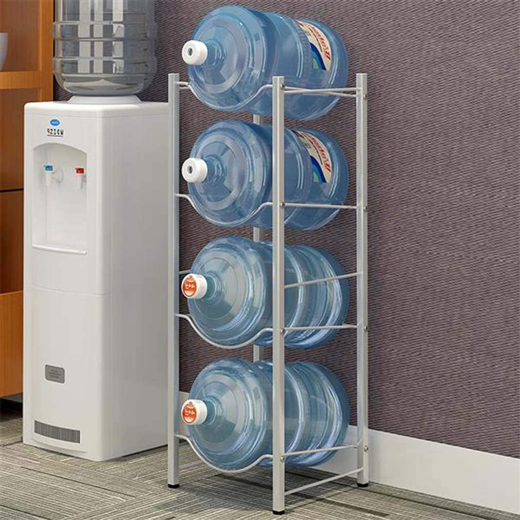 5 Gallon Water Bottle Storage Rack Jug Holder with Floor Protection for Home Office Kitchen Organization 4-Tier Heavy Duty Water Cooler Jug Rack