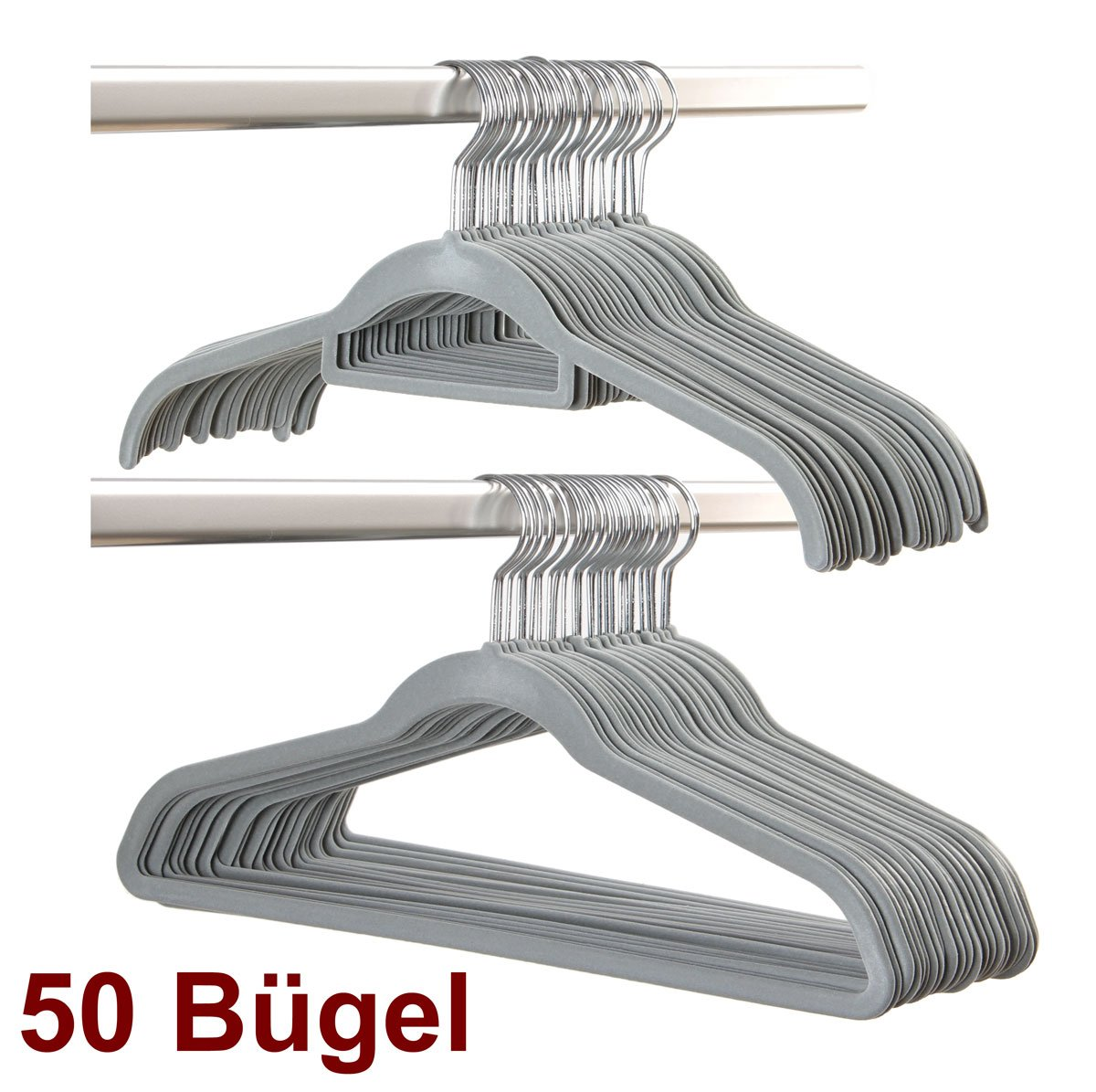 Smart-Hangers -50 Bügel- Grau/magic raumspar rutschfeste ...