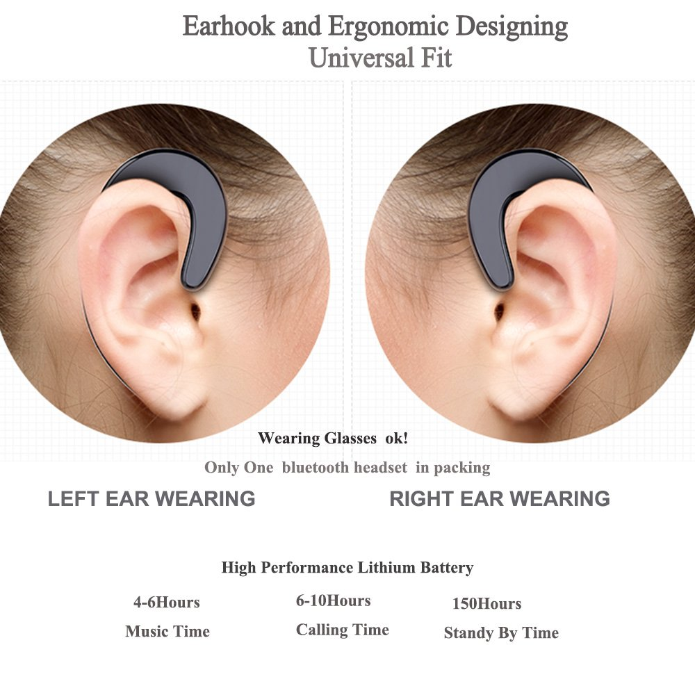 Non Ear Plug Bluetooth Headphones Hook Wireless Headset 41 Handsfree Earbud Mini L1 Sj0048 Earphones Noise Reduced Call For Android Cell Phone Iphone Instead Of Bone