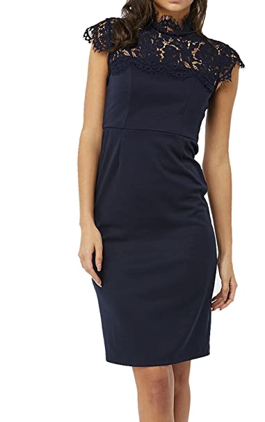 a6410cf135 Monsoon Size 8-22 Paige Ponte Navy Lace Party Pencil Wiggle Vintage Dress:  Amazon.co.uk: Clothing