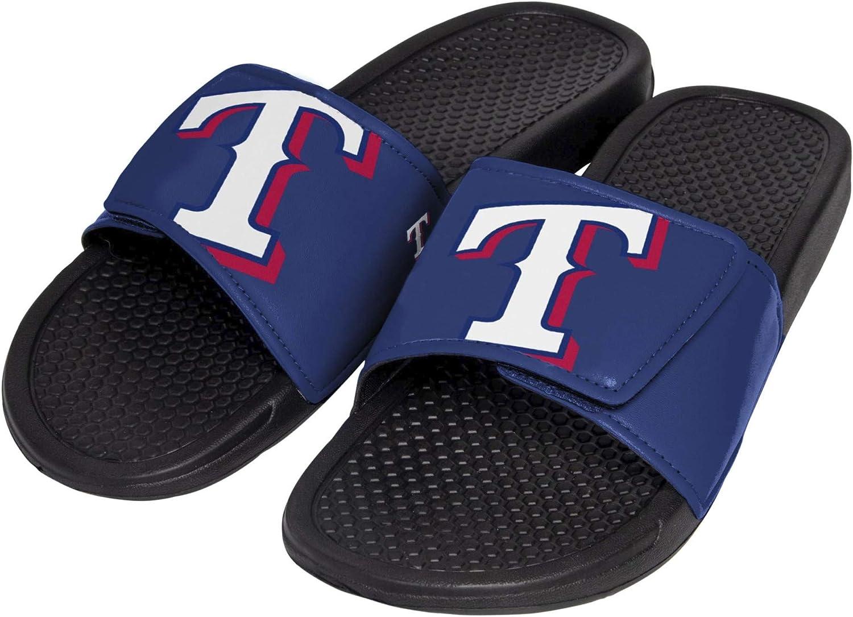 FOCO MLB Texas Rangers Unisex Cropped Big Logo Youth SLIDECROPPED Big Logo Youth Slide Team Color M