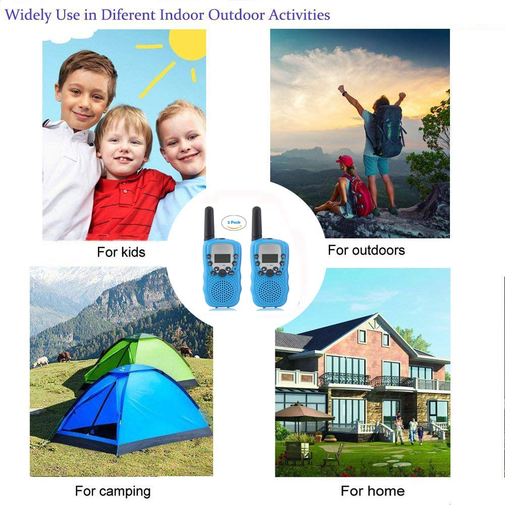 Woltechz Outdoor Toy Explorer Kit for Kids, 2packs Walkie Talkies with 3KM Long Rang 22 Channels 2 Way Radio/ Binoculars for Kids/Flashlight/ Compass and Adventure kit for Boys or Girls by Woltechz (Image #7)